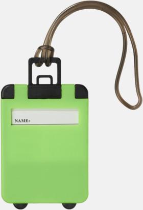 Neongrön Bagagebricka med eget tryck