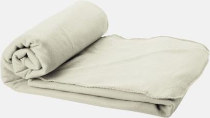 Ljusgrå Fleecefilt och bag - med tryck