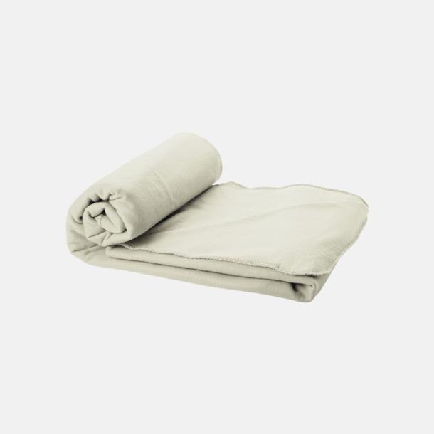 Ljusgrå Fleecefilt och bag - med reklamtryck