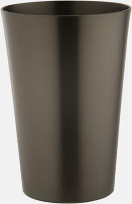 Gun Metal CT Ölglas i aluminium med reklamtryck