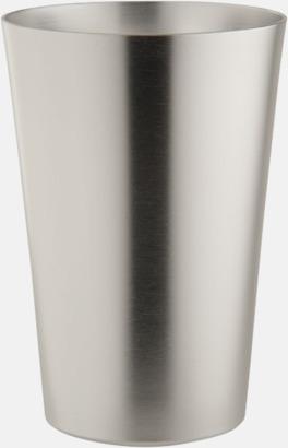 Silver Ölglas i aluminium med reklamtryck