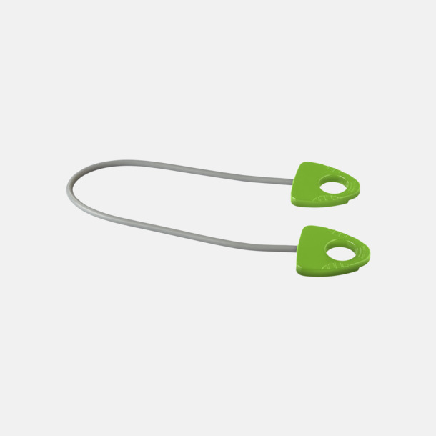 Limegrön Träningsband med handtag med reklamtryck