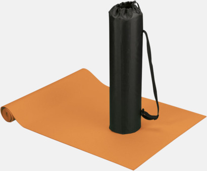 Orange Fitness- & yogamatta med reklamtryck