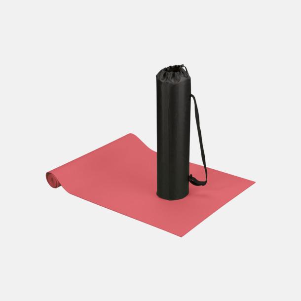 Röd Fitness- & yogamatta med reklamtryck