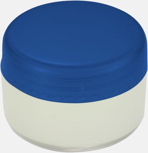 Blå Läppcerat i små askar med reklamtryck