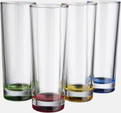 Transparent/Blandat Set med 4 glas - med reklamtryck