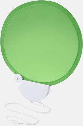 Grön Kompakta solfjädrar med reklamtryck