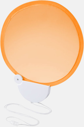 Orange Kompakta solfjädrar med reklamtryck