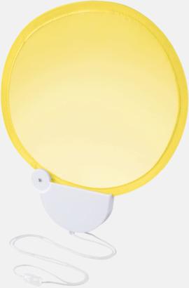 Gul Kompakta solfjädrar med reklamtryck