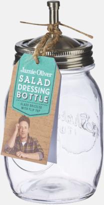 Dressingflaskor från Jamie Oliver med reklamtryck