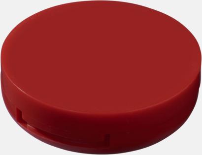 Röd Fickspegel med läppcerat med reklamtryck