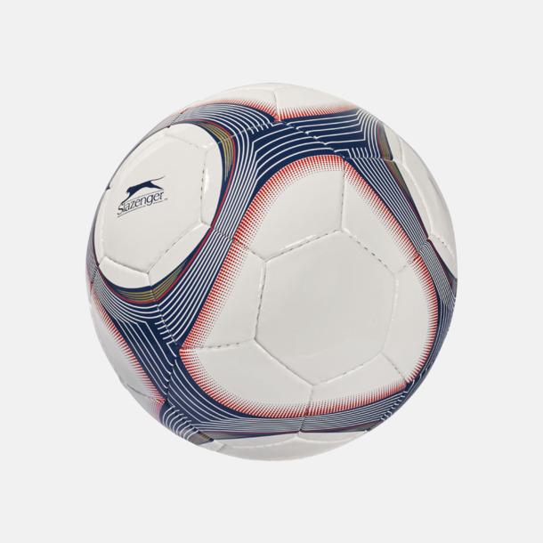 Vit / Marinblå Designade fotbollar med reklamtryck