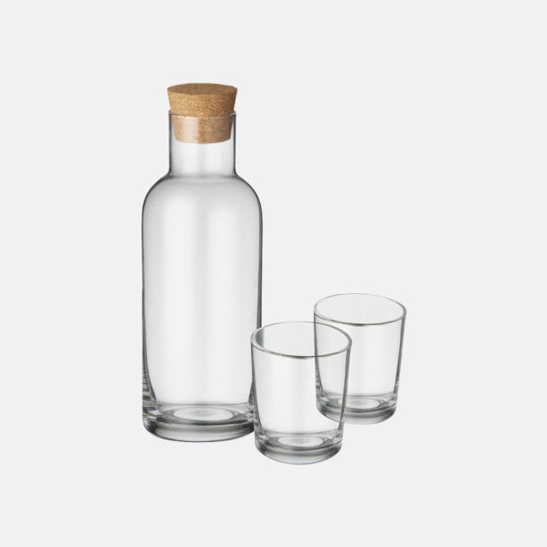 Transparent Klar Glasset med reklamtryck