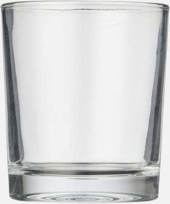 Glasset med reklamtryck