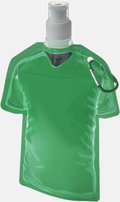 Grön Sportiga, vikbara vattenflaskor med reklamtryck