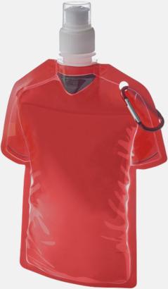 Röd Sportiga, vikbara vattenflaskor med reklamtryck