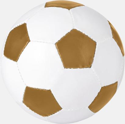 Vit / Guld Klassiska fotbollar i många färger med reklamtryck