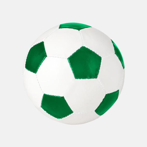 Vit / Grön Klassiska fotbollar i många färger med reklamtryck