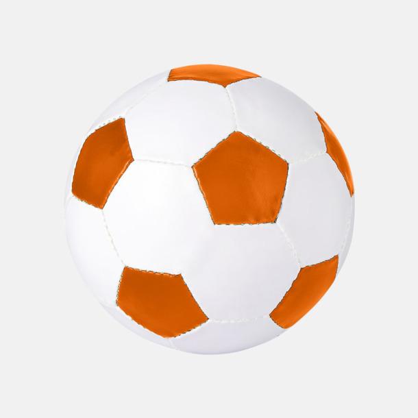 Vit / Orange Klassiska fotbollar i många färger med reklamtryck