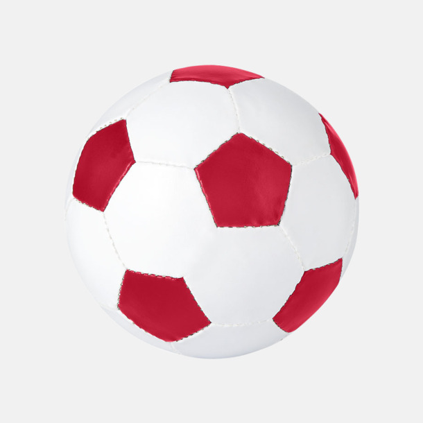 Vit / Röd Klassiska fotbollar i många färger med reklamtryck