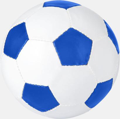 Vit/Royal Klassiska fotbollar i många färger med reklamtryck