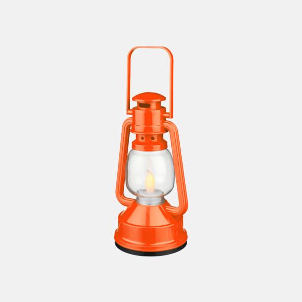 Orange Lanternlyktor med reklamtryck
