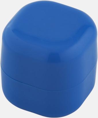 Blå Kubformade cerat med reklamtryck
