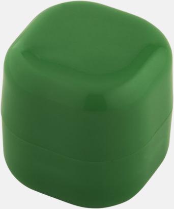 Grön Kubformade cerat med reklamtryck