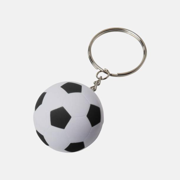 Vit / Svart Fotbollsnyckelringar med reklamtryck