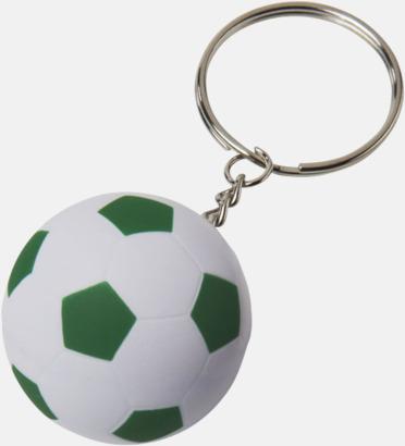 Vit / Grön Fotbollsnyckelringar med reklamtryck