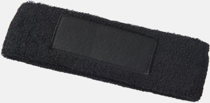 Svart Pannband med label som kan tryckas