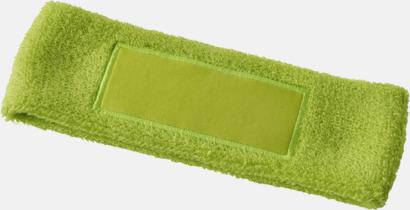 Limegrön Pannband med label som kan tryckas