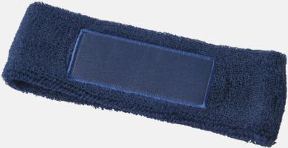 Marinblå Pannband med label som kan tryckas