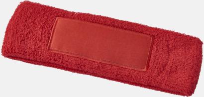 Röd Pannband med label som kan tryckas