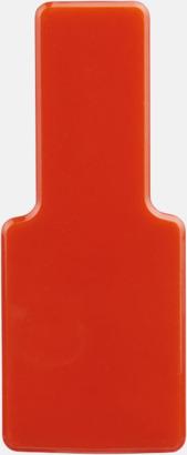 Röd Fäst mobilen vid datorn - med reklamtryck