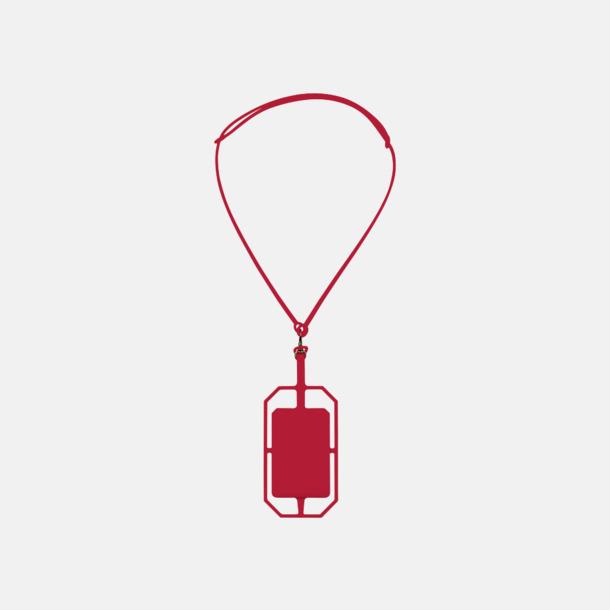 Röd Silikonkortfickor med RFID-skydd med reklamtryck