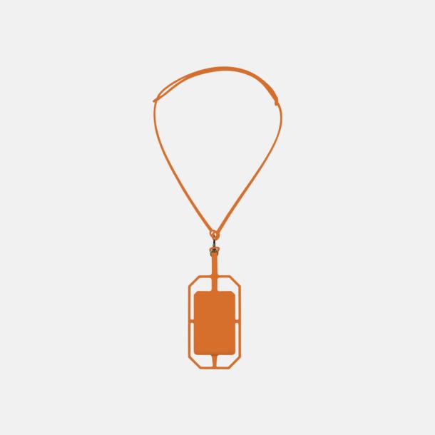 Orange Silikonkortfickor med RFID-skydd med reklamtryck