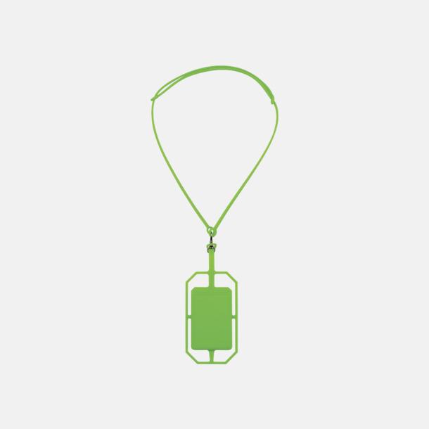 Limegrön Silikonkortfickor med RFID-skydd med reklamtryck