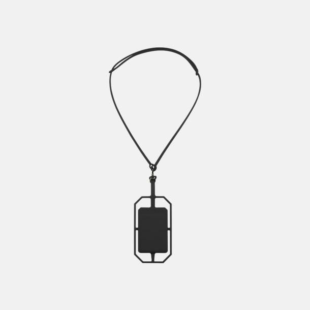 Svart Silikonkortfickor med RFID-skydd med reklamtryck