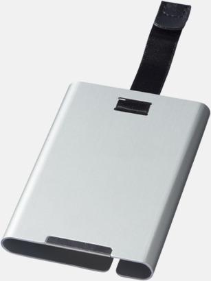 Silver Metallkorthållare med RFID-skydd med reklamtryck