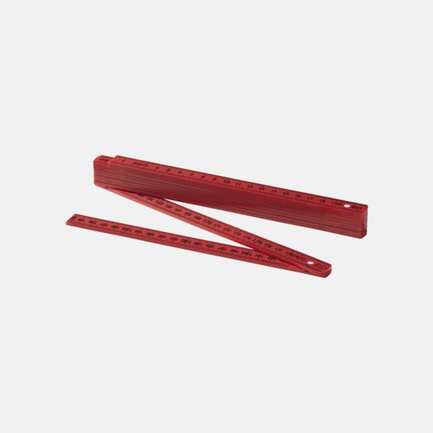 Röd Färgglada tumstockar med reklamtryck