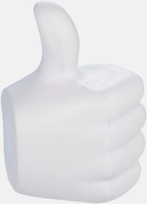 Tummen upp-formade stressbollar med reklamtryck