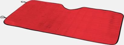 Röd Vindruteskärm med eget tryck