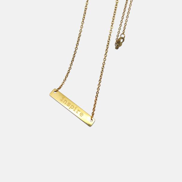 Guld Halsband med hänge med egen gravyr
