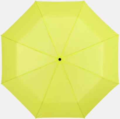 Neongrön Kompakta paraplyer med eget reklamtryck