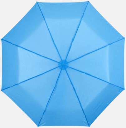 Blå Kompakta paraplyer med eget reklamtryck