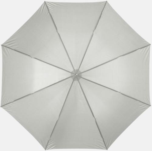 Ljusgrå Automatiskt paraply i flera färger med eget reklamtryck