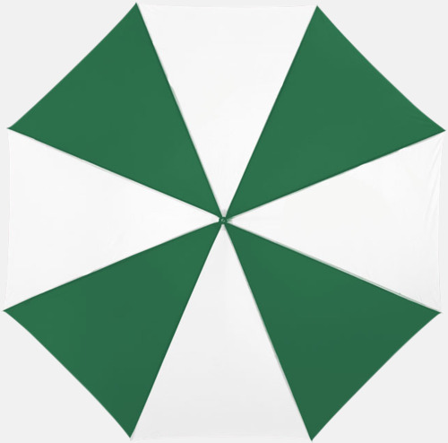 Grön/Vit Automatiskt paraply i flera färger med eget reklamtryck