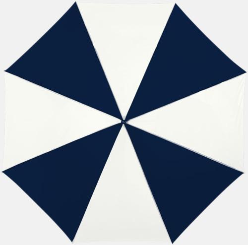 Marinblå/Vit Automatiskt paraply i flera färger med eget reklamtryck
