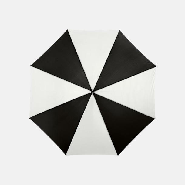 Svart/Vit Automatiskt paraply i flera färger med eget reklamtryck